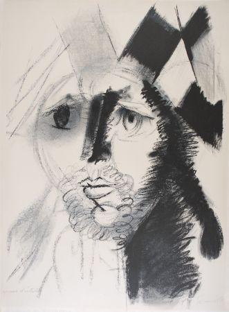 Lithograph Somville - Arlequin - NOIR