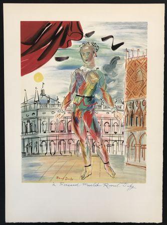 Lithograph Dufy - Arlequin a la Maniere Venitienne
