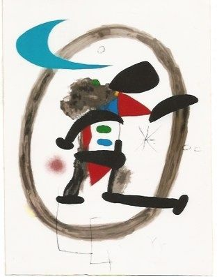 Lithograph Miró - Arlequin Circonscrit