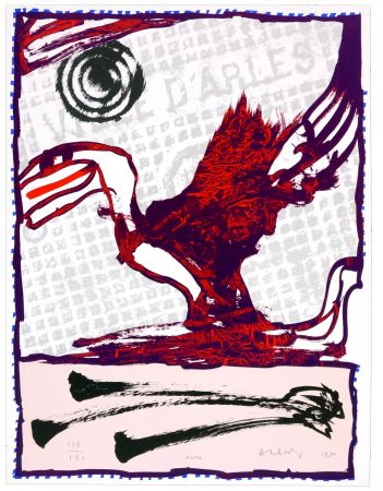 Lithograph Alechinsky - Arles