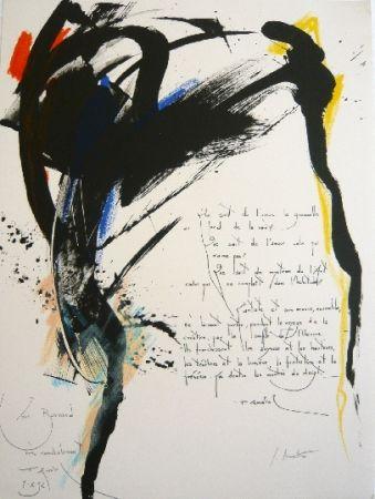 Lithograph Miotte - Arrabal