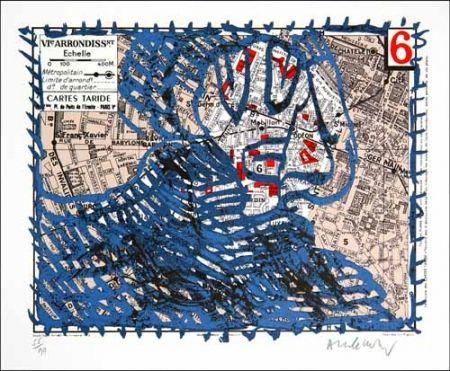 Lithograph Alechinsky - Arrondissement de paris n°6