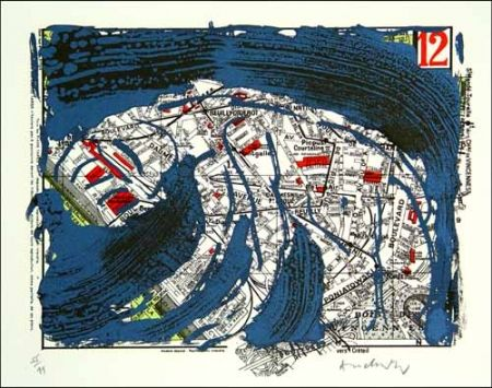 Lithograph Alechinsky - Arrondissement de paris n° 12