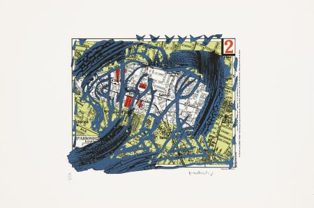 Lithograph Alechinsky - Arrondissement N°2
