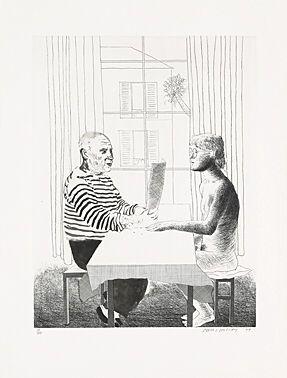 Engraving Hockney -