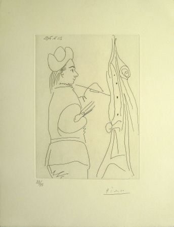 Etching Picasso - Artist at Easel