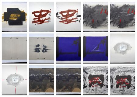 Lithograph Tàpies - Artist Book Nocturn Matinal (with complet Portfolio)