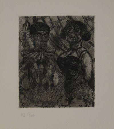 Engraving Schürch - Artistenpaar