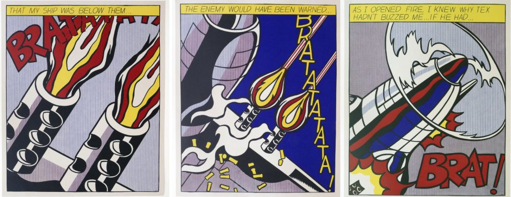 Lithograph Lichtenstein -  As I Opened Fire