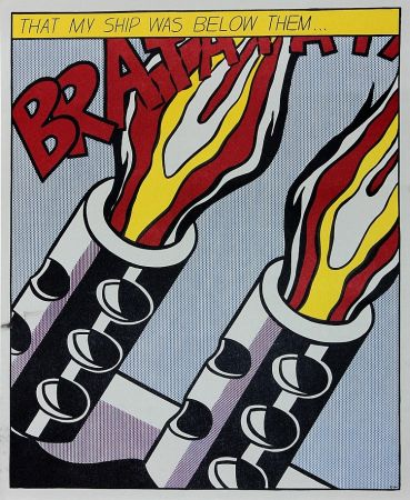 Lithograph Lichtenstein - As I Opened Fire Iii