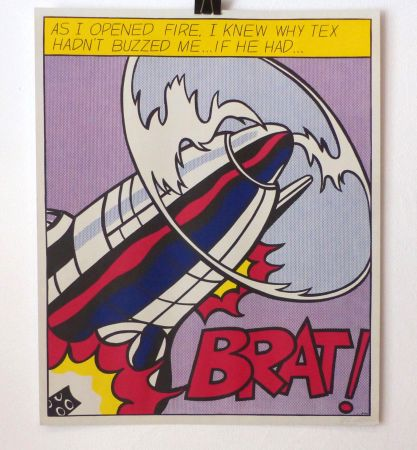 Lithograph Lichtenstein - As I opened fire. Lithographie signée.