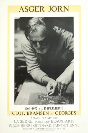 Poster Alechinsky - AsgerJorn à l'imprimerie Clot, Bramsen & Georges