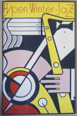 Screenprint Lichtenstein - Aspen jazz festival