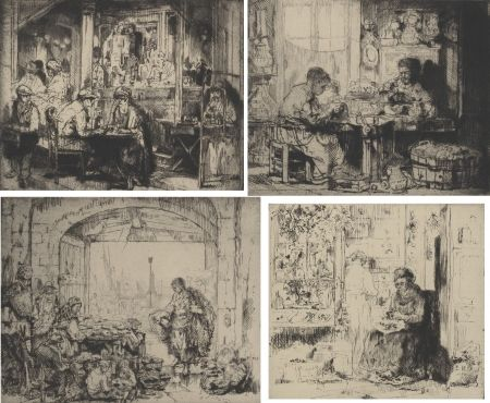 Etching Brouet - (Assorted Occupations:  A Collection Of Ten Original Etchings)