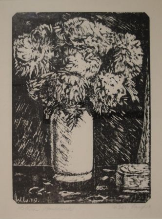 Woodcut Laage - Astern