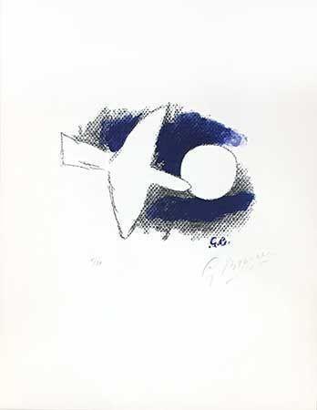 Lithograph Braque - Astre et oiseau