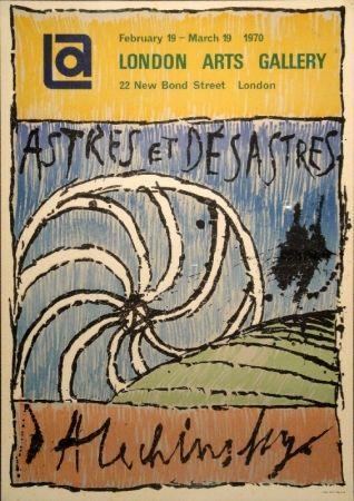 Lithograph Alechinsky - Astres et Désastres