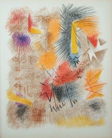 Lithograph Masson - Astres et Visages