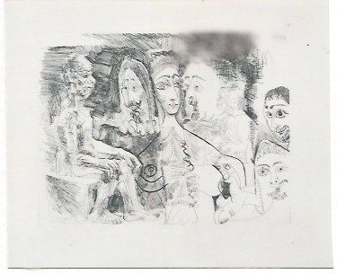 Etching Picasso - Atelier