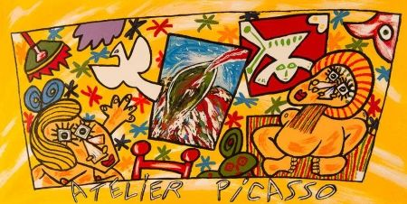 Lithograph Donzelli - Atelier Picasso