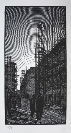 Woodcut Moreau - Ateliers De Montreuil - Montreuil City / Plant - France 1912