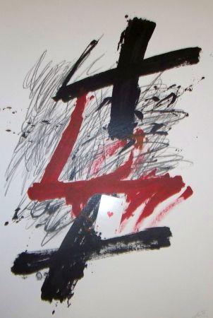 Lithograph Tàpies - Atout coeur