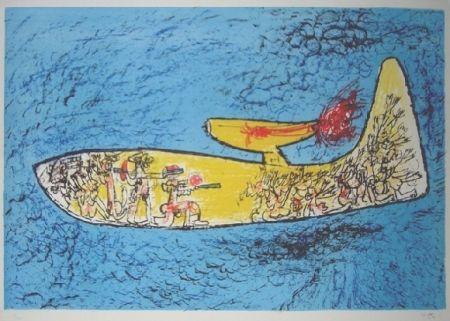 Lithograph Matta - Attentat d'Orly