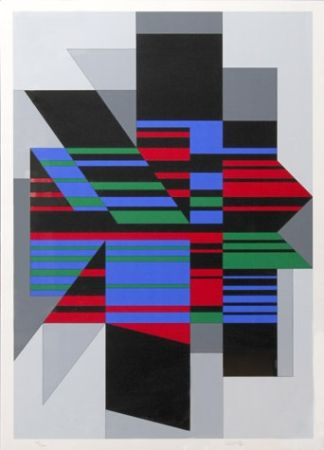 Screenprint Vasarely - Attila