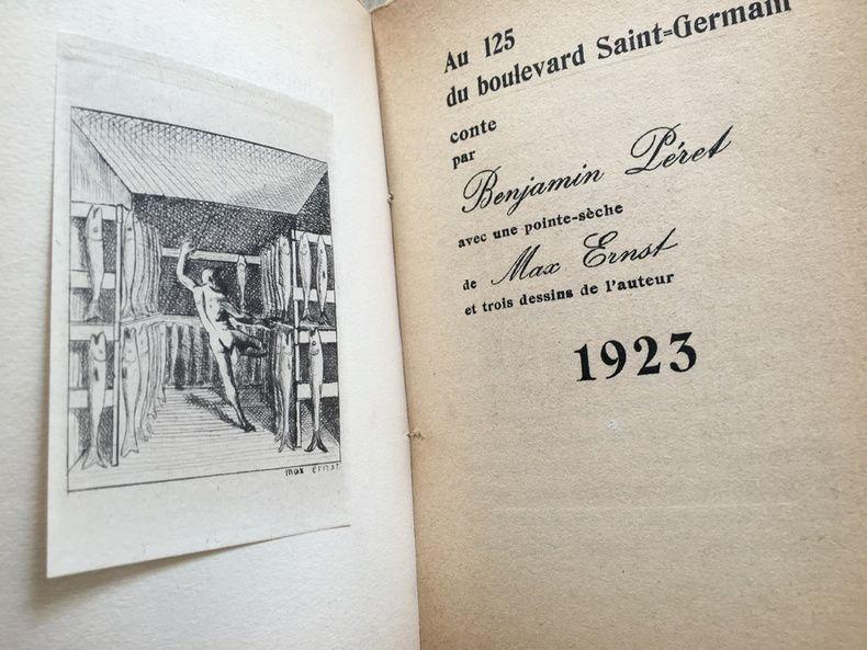 Illustrated Book Ernst - AU 125 DU BOULEVARD SAINT-GERMAIN. Conte par Benjamin Péret (1923)