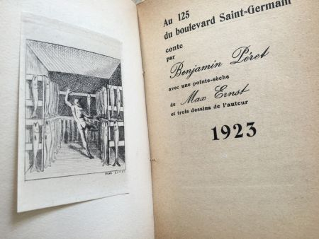 Illustrated Book Ernst - AU 125 DU BOULEVARD SAINT-GERMAIN. Conte par Benjamin Péret (1923)