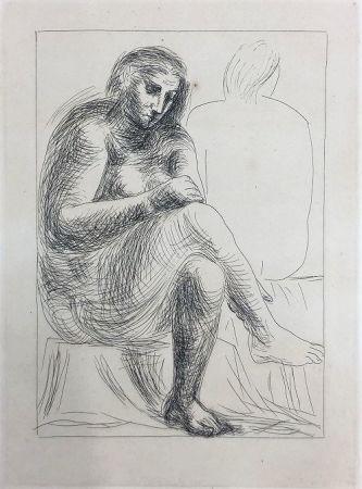 Engraving Picasso - Au bain