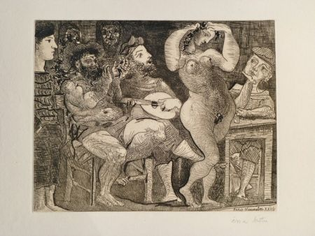 Engraving Picasso - AU CABARET