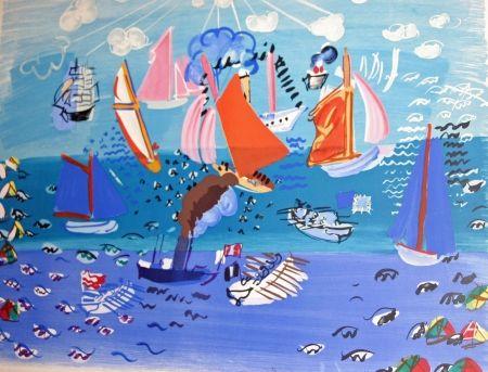 Lithograph Dufy - AU port