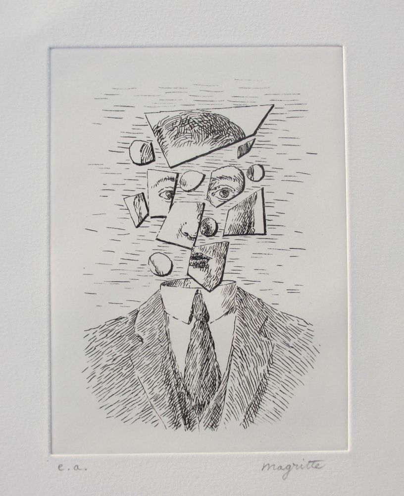 Engraving Magritte - Aube à l'Antipode
