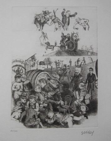 Engraving Hubbuch - Auerbachs Keller in Leipzig