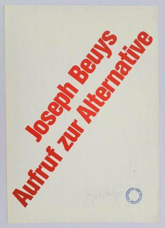 Lithograph Beuys - Aufruf zur Alternative