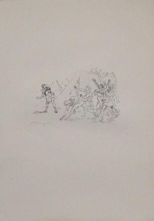 Lithograph Slevogt - Aufstand der Soldaten gegen Klearchos