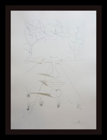 Etching Dali - Aurelia Visage Surrealiste