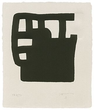 Screenprint Chillida - Aurreburu