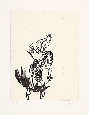 Etching And Aquatint Baselitz - Aus der Anatomie