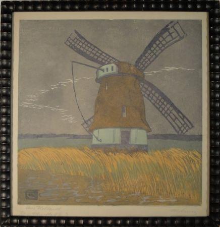 Woodcut Cunz - Aus Holland