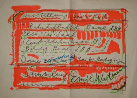 "Screenprint Roth - ""Ausstellung Dieter Roth / Bahnhofbuffet Basel SBB..."