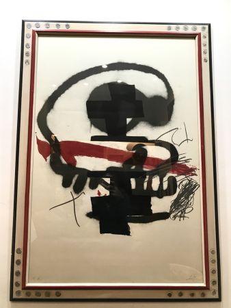 Lithograph Tàpies - Ausstellung Tàpies - Milano