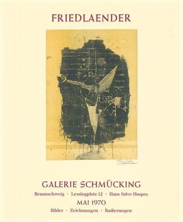 Etching And Aquatint Friedlaender - Ausstellungsplakat Galerie Schmücking, Braunschweig, 1970