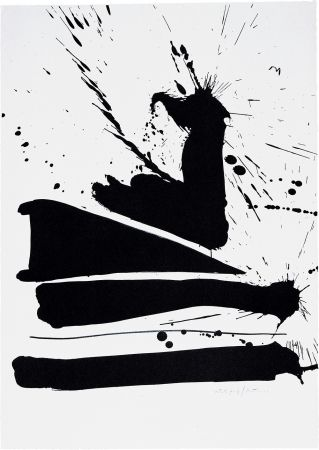 Lithograph Motherwell - Automatism B