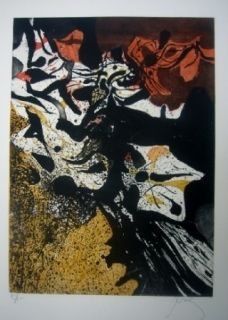 Etching And Aquatint Prassinos - Automne