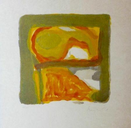 Lithograph Van Velde - Automne