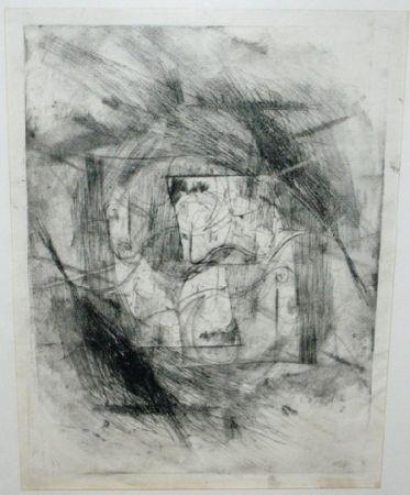 Drypoint Szafran - Autoportrait