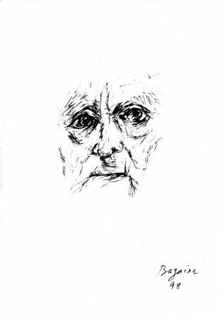 Lithograph Bazaine - Autoportrait