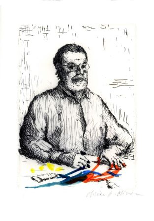 Etching And Aquatint Olivier O - Autoportrait
